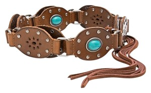 Chico's Chico's Valerie Turquoise Gem Belt Size M