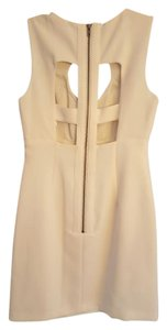 BCBGeneration Cream Ivory Sexy Modern Contemporary Dress