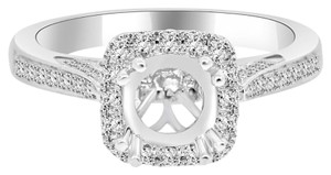 Avi and Co 0.85 cttw Round Diamond Designer Halo Engagement Semi-Mounting 18K White Gold