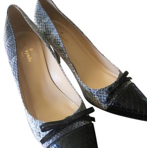 Kate Spade Black & snake skin Pumps