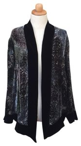Chico's Velvet Sheer Floral Silk Textured Cardigan