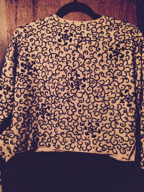 1950 Vintage, No Label 1950's Fabulous Beaded Sweater