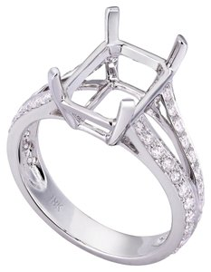 Avi and Co 0.57 cttw Round Cut Diamond Split Shank Engagement Semi-Mounting 18K White Gold