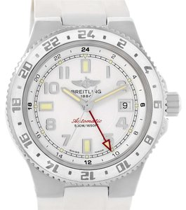Breitling Breitling Superocean GMT White Dial Rubber Watch A32380A9-A737 Unworn