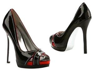 Jessica Simpson Black and red Platforms