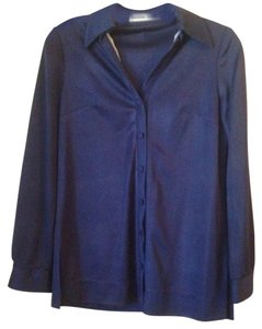 Manning Silver Buttons Vintage Button Down Shirt Blue