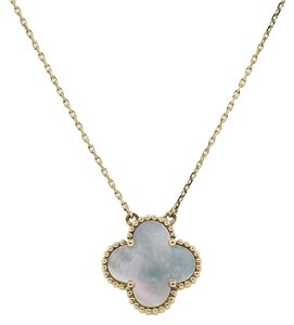 Van Cleef & Arpels Van Cleef & Arpels Alhambra MOP Single Motif Necklace