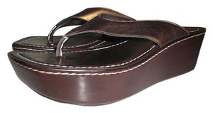Donald J. Pliner BRONZE/BROWN Wedges