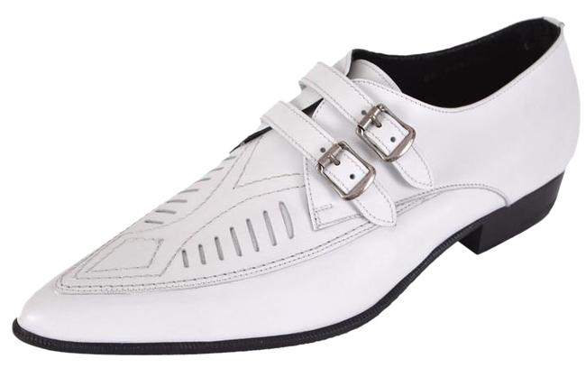 Item - White New Ysl Men's Leather Duckies Strap Loafer 45 Formal Shoes Size US 12 Regular (M, B)