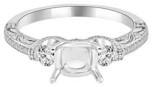 Avi and Co 0.75 cttw Round Diamond Pave Designer Engagement Semi-Mounting 18K White Gold