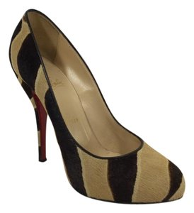 Christian Louboutin Pony Hair Feticha Brown/Tan Pumps
