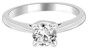 Avi and Co 0.72 ct Round Cut Solitaire Diamond Engagement Ring 14k White Gold