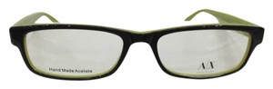 A|X Armani Exchange Armani Exchange AX144 Col 0YGY Brown/Green Plastic Eyeglasses 53mm 16mm 140mm