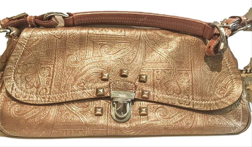 a66d1f136ec8 Prada Embossed Leather Vintage Leather Satchel in Golden tan copper Image 0  ...