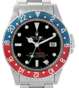 Rolex Rolex GMT Master Vintage Steel Mens Watch 16750 Year 1982