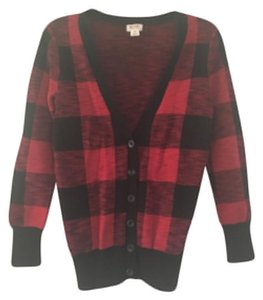 Mossimo Supply Co. Plaid Red And Cardigan