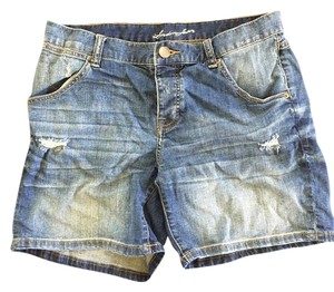 Victoria's Secret Cuffed Shorts Blue