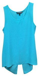 Express Split Back Top Mint Blue/Green