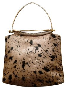 Moo Roo Skin Printed Cowhide Dressy Shoulder Bag