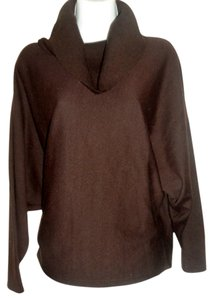 Nina Leonard Solid Cowl Neck Sweater