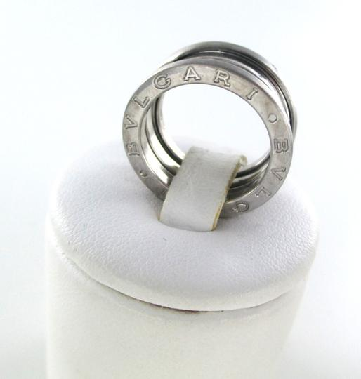 BVLGARI BVLGARI B ZERO 1 RING 18KT WHITE GOLD 2 BAND 5.7DWT SZ 5 BULGARI DESIGNER JEWEL