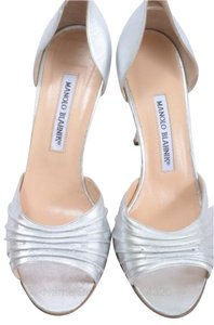 Manolo Blahnik Silver Pumps