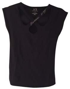 A|X Armani Exchange T Shirt Black and silver