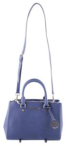 Michael Kors Sutton Saffiano Leather Satchel in Navy