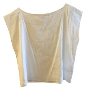 Aritzia Linen Top Off White