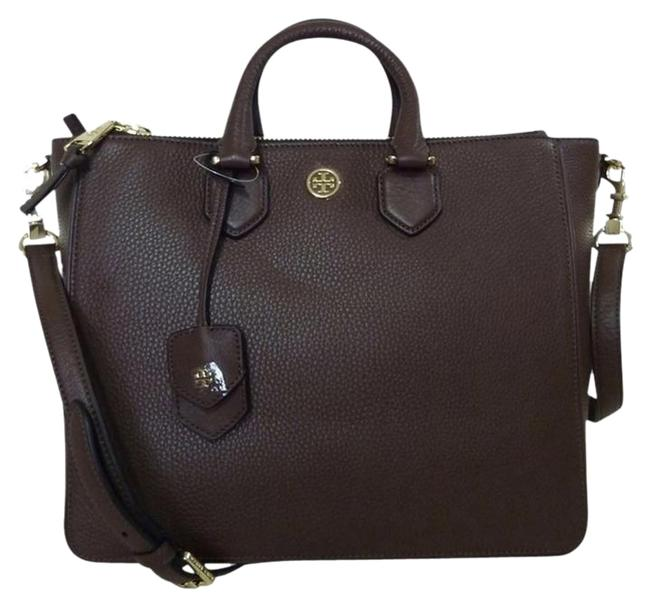 Item - Robinson Square Brown Pebbled Leather Tote