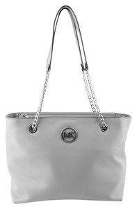 Michael Kors Fulton Leather Tote in Gray