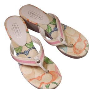 Coach Casual white and pink Sandals