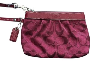 Coach Wristlet in Ruby Red