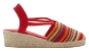 Chico's Red striped Wedges