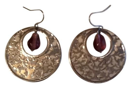 Other Silver tone and purple earrings