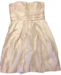 Max and Cleo Party Short Strapless Tulip Pearl Ivory Vegas Wedding Dress