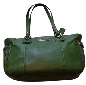 Coach Unique Leather Stunner Satchel in Green