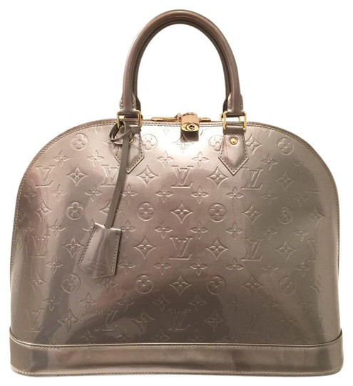 Preload https://item2.tradesy.com/images/louis-vuitton-alma-vernis-gm-gray-patent-leather-satchel-15134671-0-1.jpg?width=440&height=440