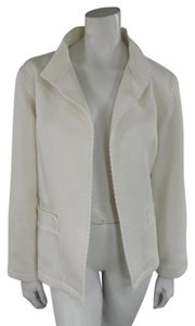 Oscar de la Renta Contemporary Casual White Jacket