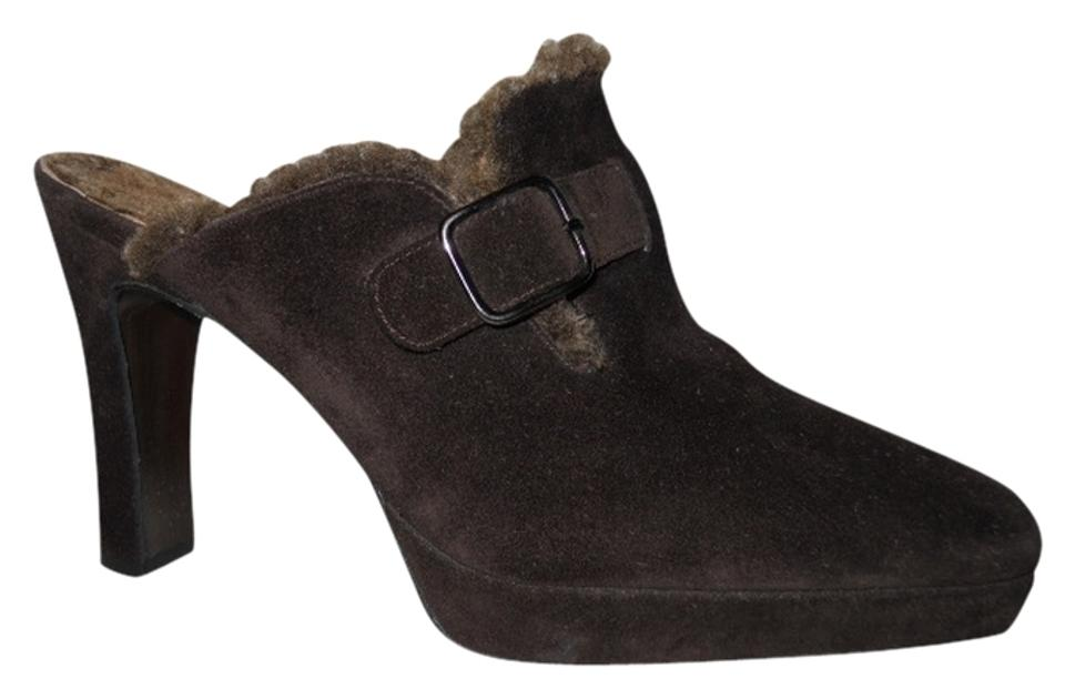LADY Suede Stuart Weitzman Brown Suede LADY Mules/Slides environmentally friendly acd627