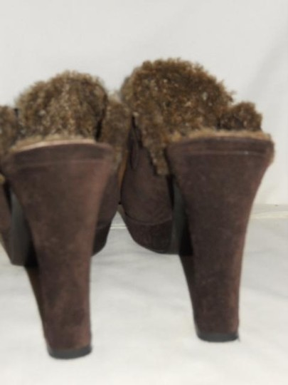 Stuart Weitzman Leather Suede brown Mules