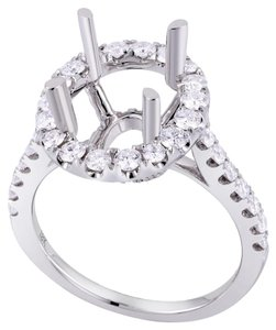 Avi and Co 0.95 cttw Round Brilliant Diamond Halo Engagement Semi-Mounting 18K White Gold