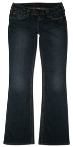 Silver Jeans Co. 5 Pocket Style Zip Fly Low Rise Tuesday Boot Cut Jeans-Dark Rinse