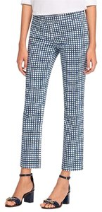 Tory Burch Straight Leg Straight Pants Blue/White