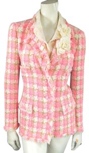 Chanel Tweed Spring Summer Pink Jacket