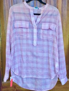 Vince Tunic Plaid Free Shipping Size M Top