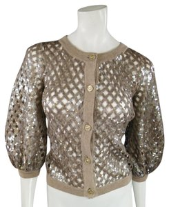 Chanel Sequin Lattace Spring Summer Cardigan