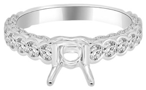 Avi and Co 1.21 cttw Round Diamond Designer Style Engagement Semi-Mounting 18K White Gold