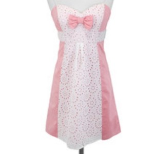 Betsey Johnson short dress Pink and white on Tradesy