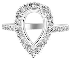 Avi and Co 1.45 cttw Round Brilliant Diamond Halo Engagement Semi-Mounting 18K White Gold